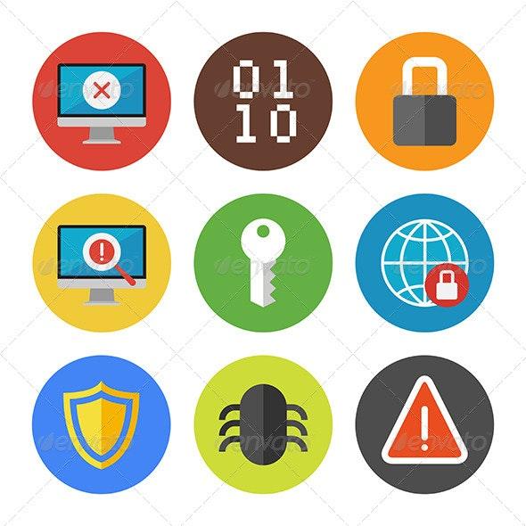 Internet Security Icons Set