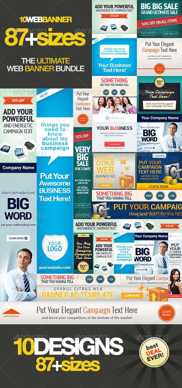 Ultimate Banner Ad Set Bundle Vol. 1 - Banners & Ads Web Elements