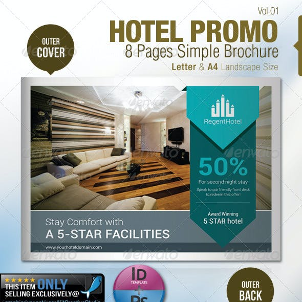 Hotel Promo 8 Pages Simple Brochure