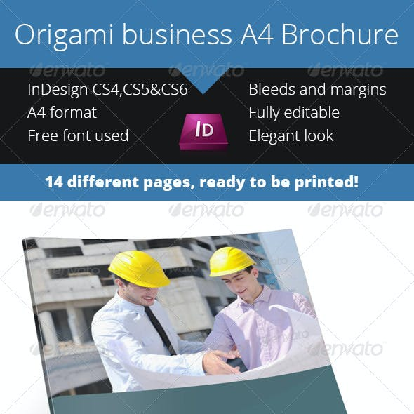 Download Origami Business Brochure A4 - InDesign Template
