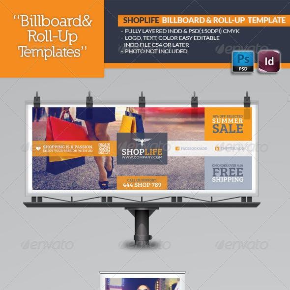 Shop Life Billboard & Roll-Up Template