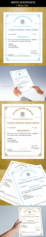 Birth Certificate - Certificates Stationery