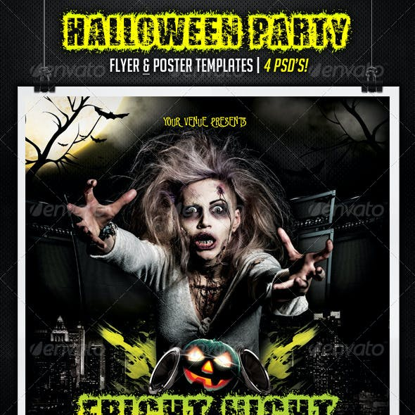 Halloween Party Flyer & Poster Templates