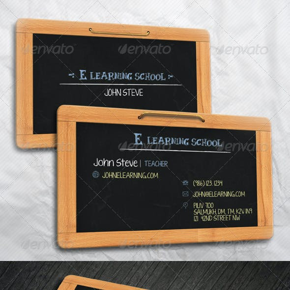 E Learning School Business Card