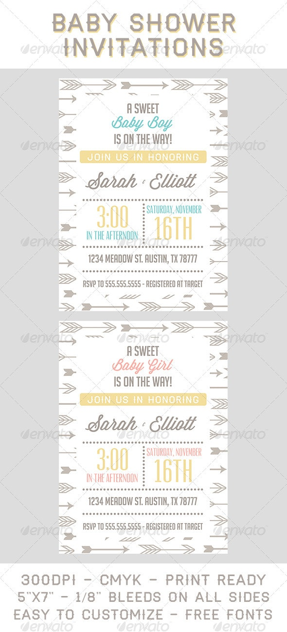 Baby Shower Invitations By Moonbeam