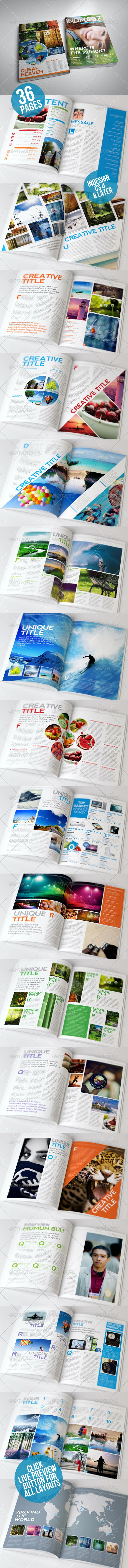 36 Pages Modern & Clean Magazine Templates Vol. 2  - Magazines Print Templates