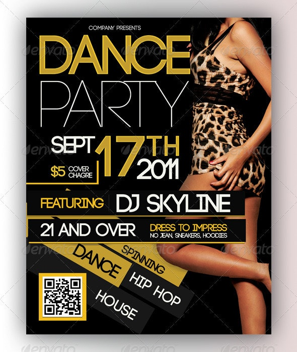 Dance Party Flyer - Clubs & Parties Events