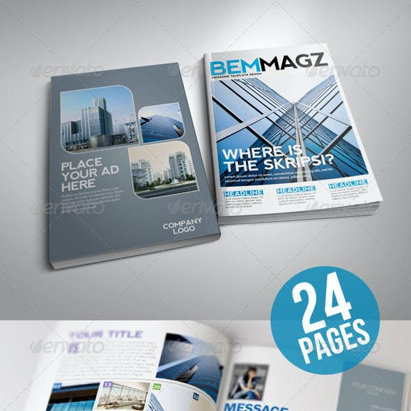 BemMagz Magazine Template with Infographics