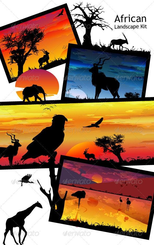 African Landscape Kit - Landscapes Nature
