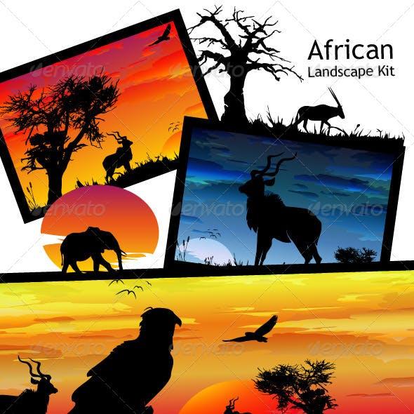 African Landscape Kit