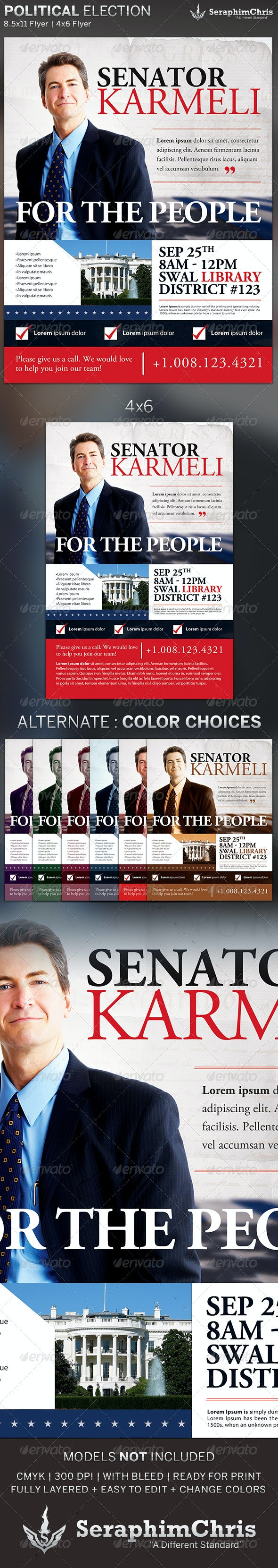 Political Election Flyer Template - Print Templates