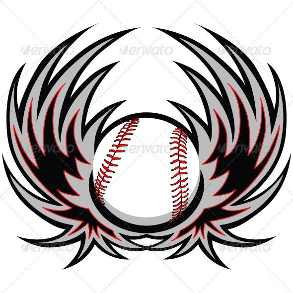 Baseball Template with Wings - Sports/Activity Conceptual