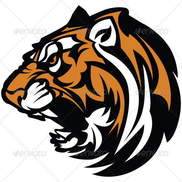 Tiger Mascot Graphic - Animals Characters