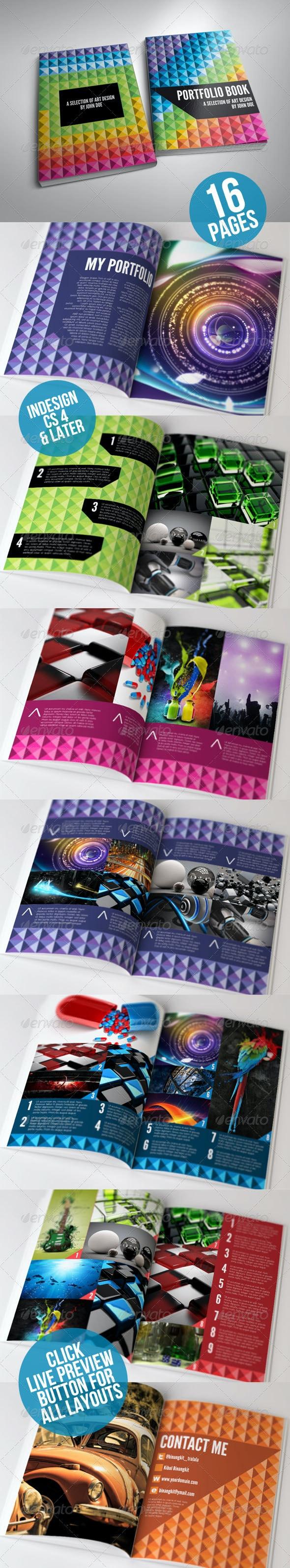 Rainbow Portfolio Book - Portfolio Brochures