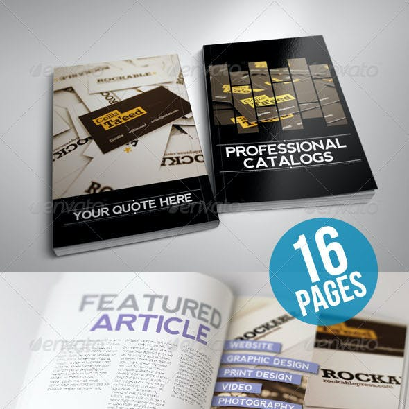 Clean and Modern Catalog Template 16 Page