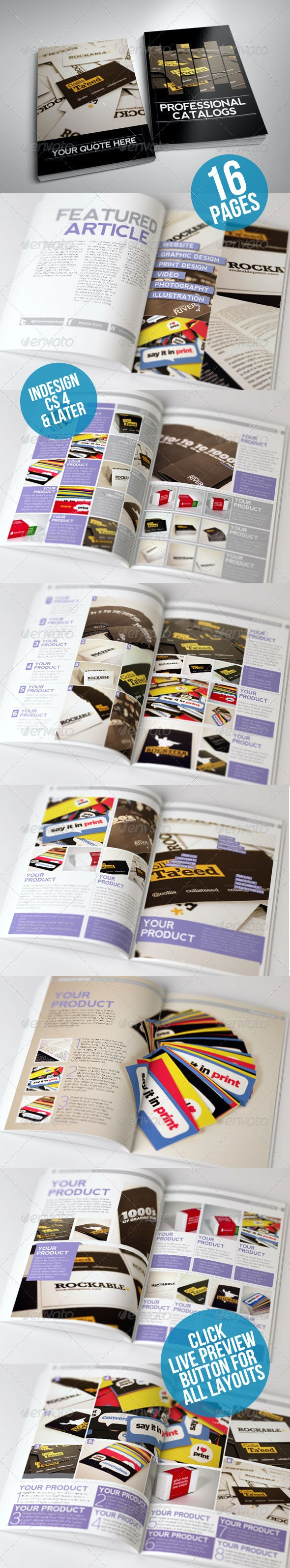 Clean and Modern Catalog Template 16 Page - Catalogs Brochures