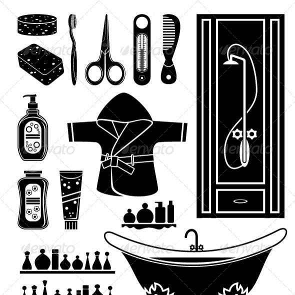 Set of Things for Bathing