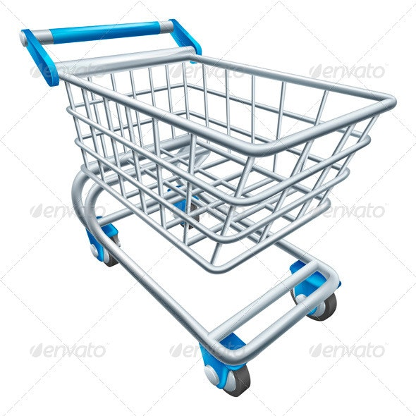 Supermarket Shopping Cart Trolley - Retail Commercial / Shopping