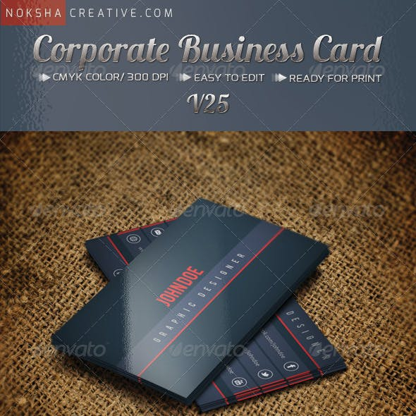Corporate Business Card V-25