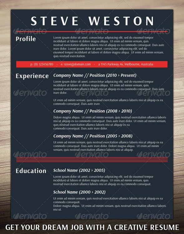 Bold Cv Template Resumes Stationery