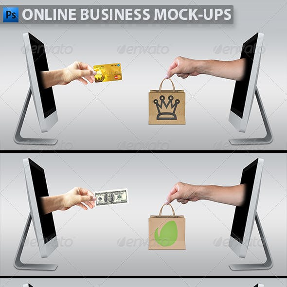 Online Business Mockup-ups