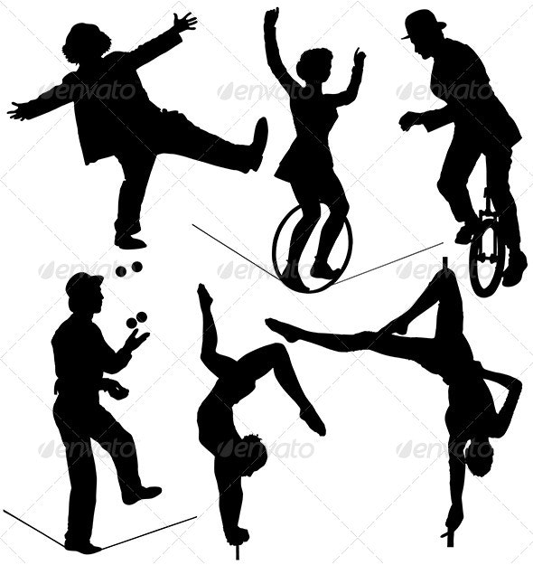 Circus Artist Silhouette - People Characters