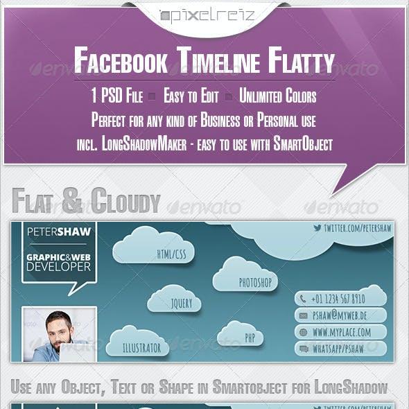 Facebook Timeline Flat & Cloudy