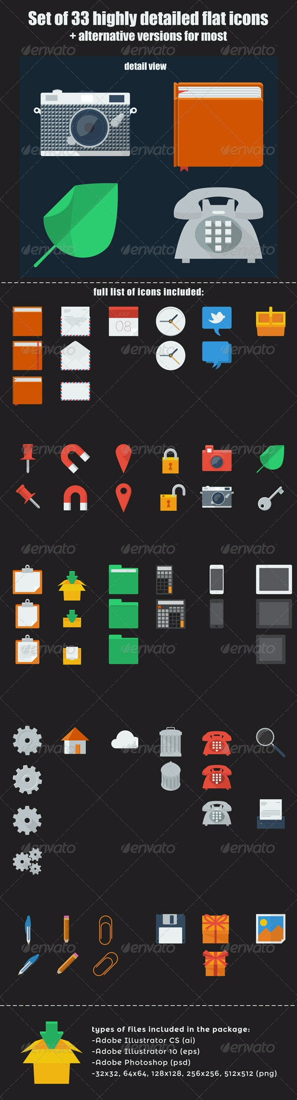 Set of Flat Icons - Web Icons