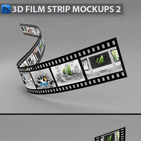 3D Film Strip Mock-ups 2