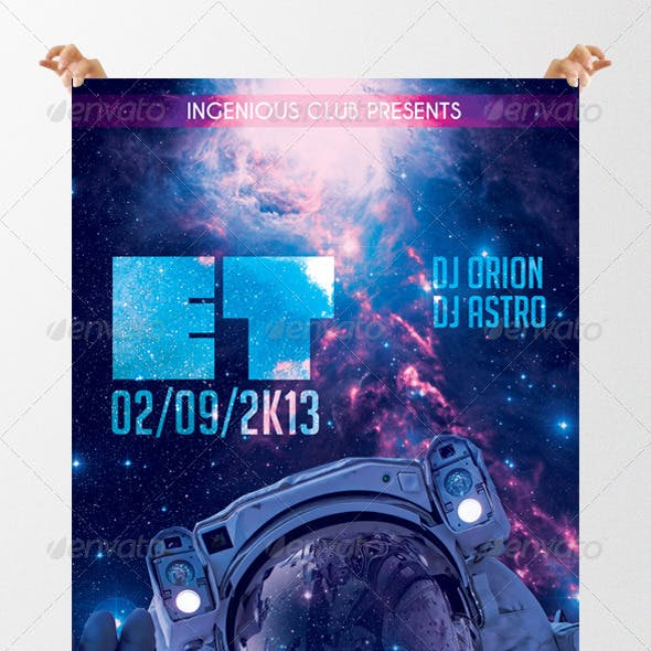 ET Futuristic Party Flyer