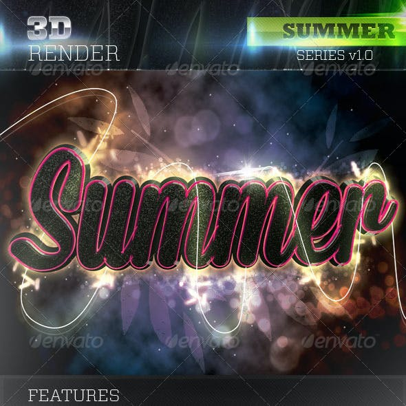 3D Summer Text
