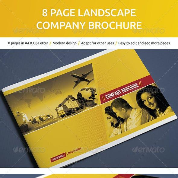 8 Page Landscape Company Brochure