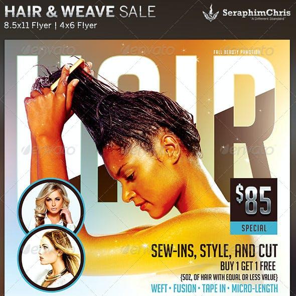Hair & Weave Sales Flyer Template