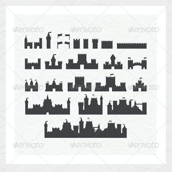 Various Castle Silhouettes