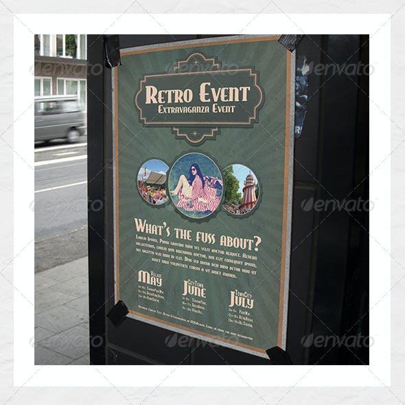 Retro Event Poster