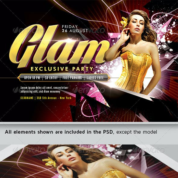 Glam Exclusive Flyer Template