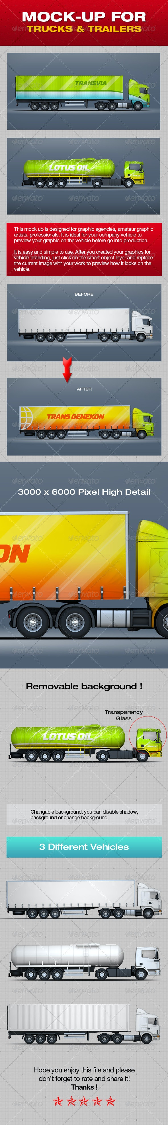 Mock-Up For Trucks & Trailers - Product Mock-Ups Graphics