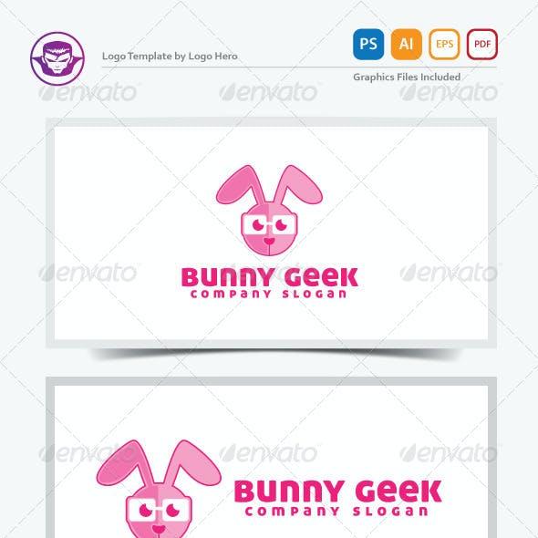 Bunny Geek Logo Template