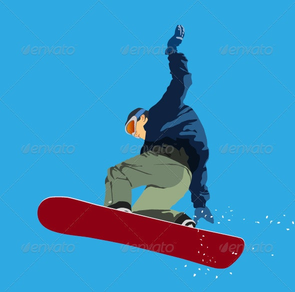 Boy On Snowboard - Characters Vectors