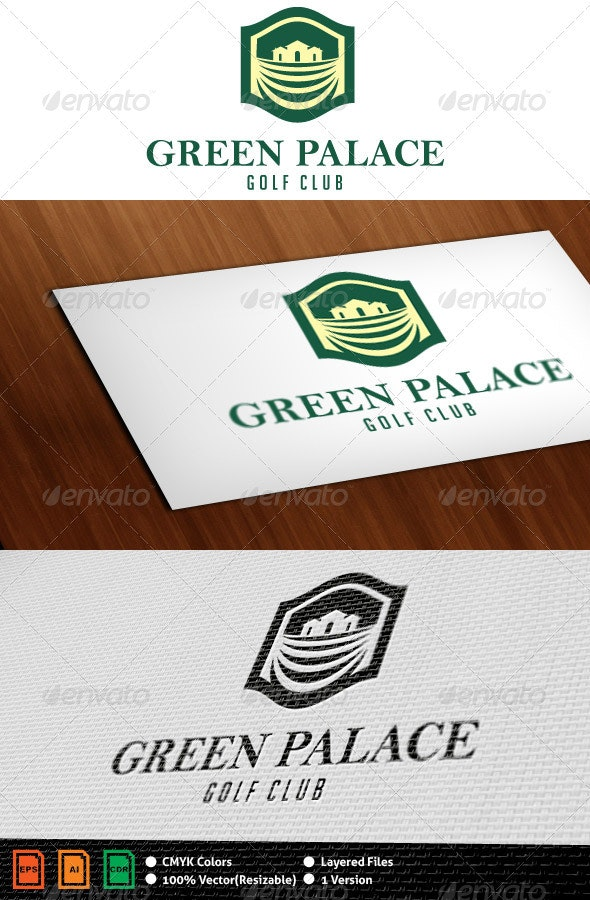 Green Palace Logo Template - Crests Logo Templates