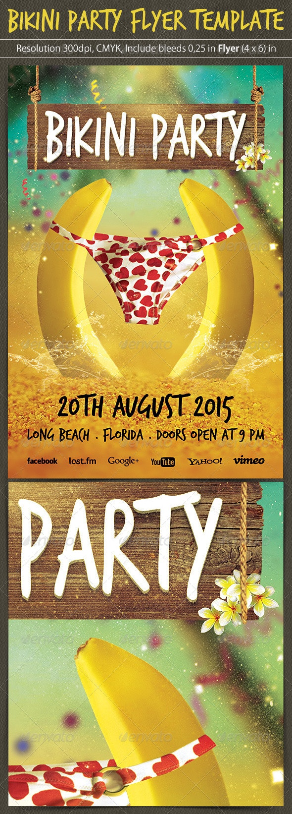 Bikini Party Flyer Template - Clubs & Parties Events