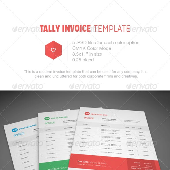 Tally Invoice Template