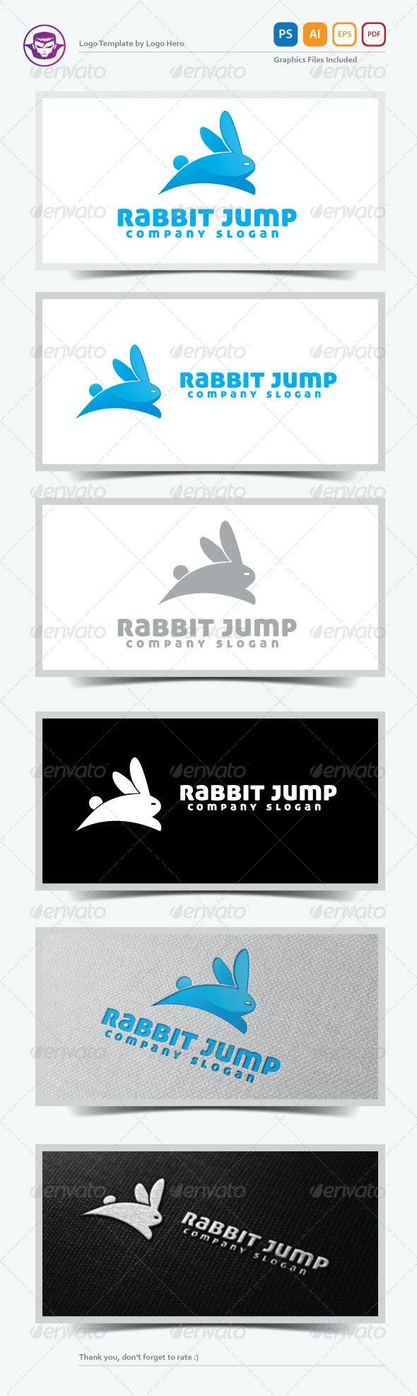 Rabbit Jump Logo Template