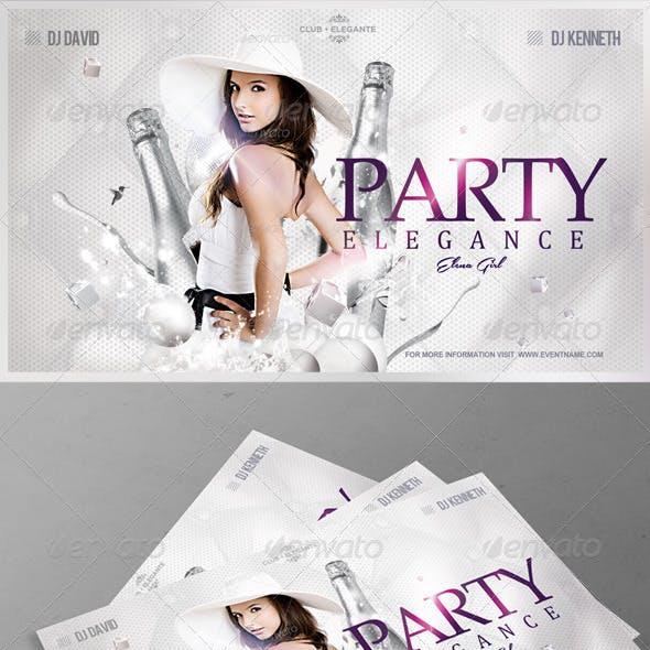 Flyer Party Elegance