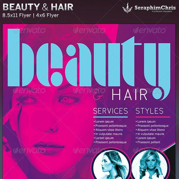 Beauty & Hair Sales Flyer Template