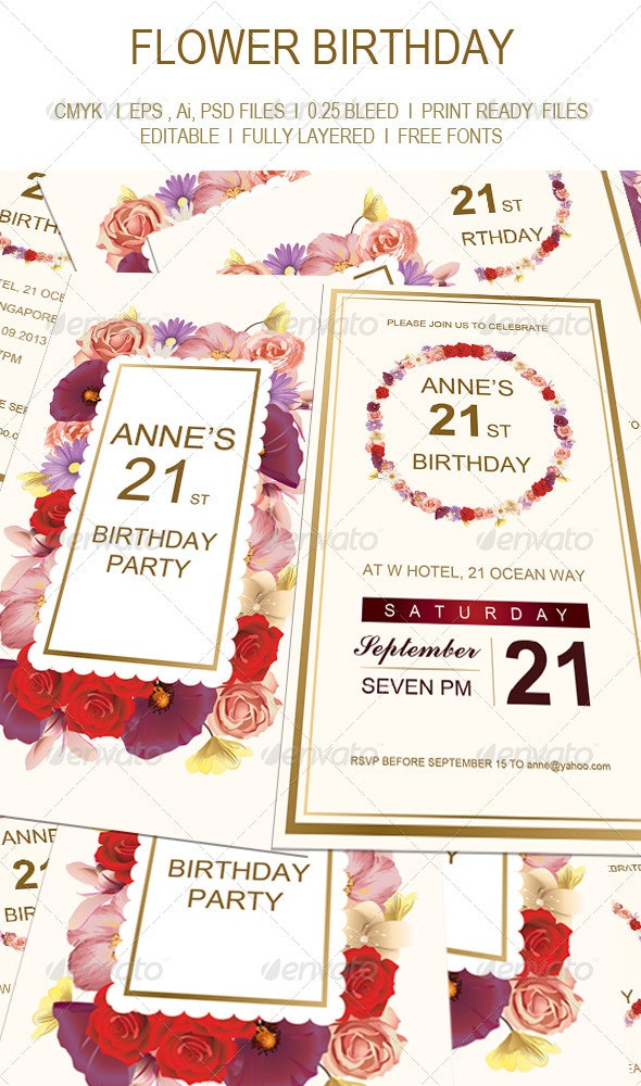 Birthday Invitation Card - Birthday Greeting Cards