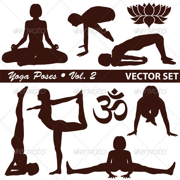 Yoga Silhouettes - Sports/Activity Conceptual