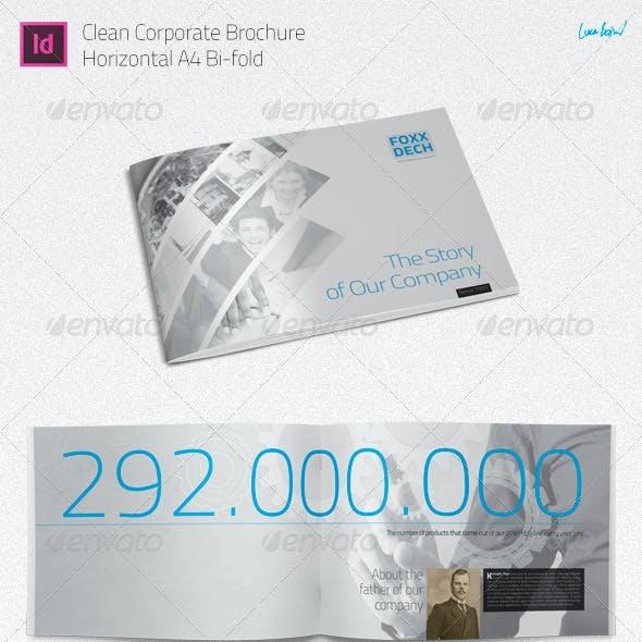A4 Brochure: Corporate Portfolio / Bio