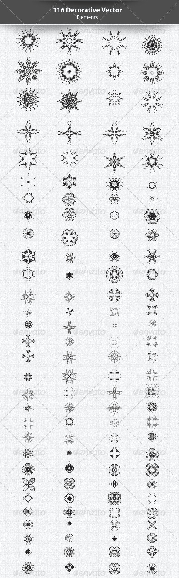 116 Abstract Decorative Vector Elements - Decorative Vectors