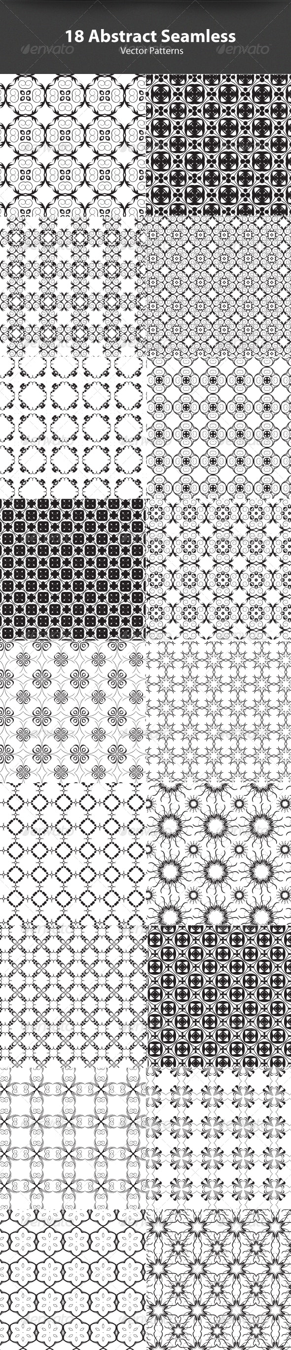 18 Minimal abstract Seamless Vector Patterns - Patterns Decorative